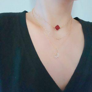 ダイヤモンド ネックレス 一生もの スライスダイヤモンド