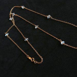 ダイヤ 一粒 ネックレス バイザヤード ハーキマーダイヤモンド ネックレス 大人ネックレス
