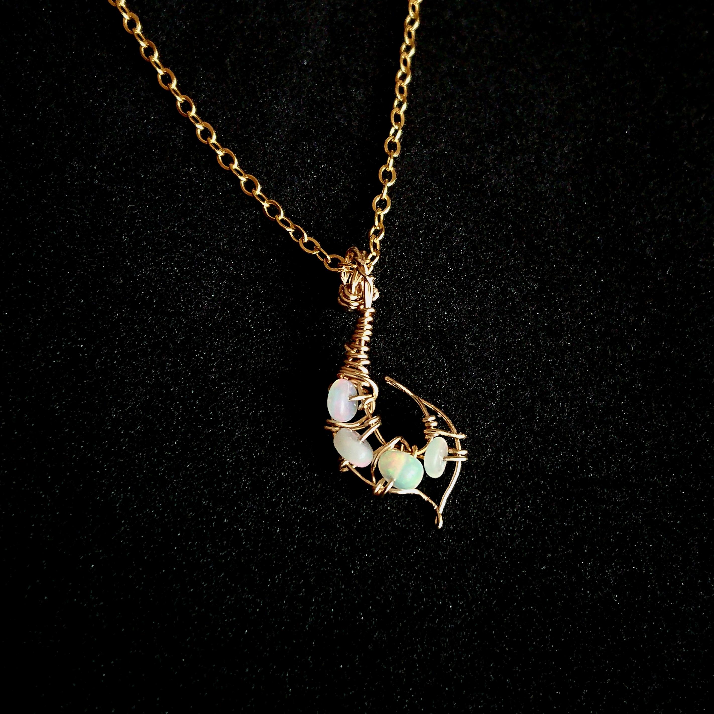 母 贈り物 母の日プレゼント 誕生日プレゼント ネックレス おまもり オパール