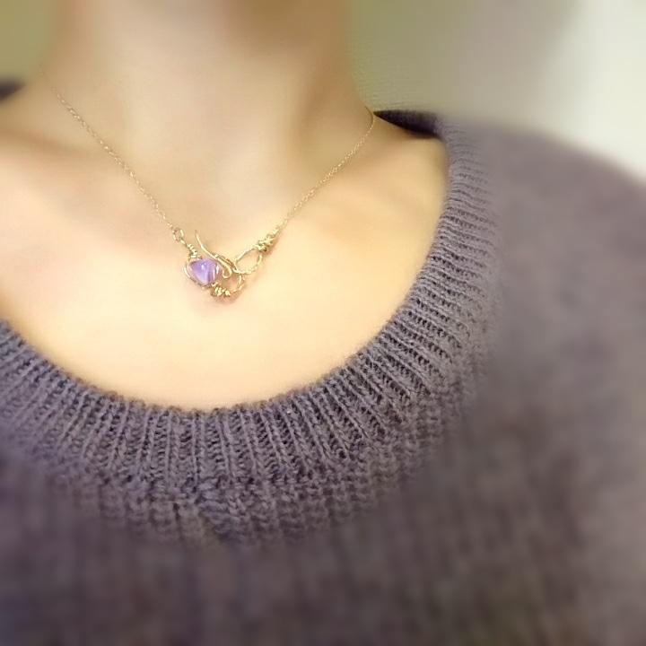 母 贈り物 母の日プレゼント 誕生日プレゼント ネックレス おまもり アメジスト