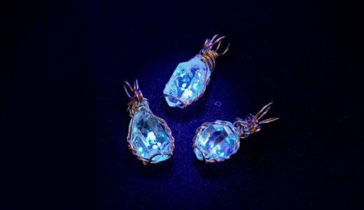 ダイヤモンド クォーツ オイル ブラックライトで光る ハーキマーダイヤモンド