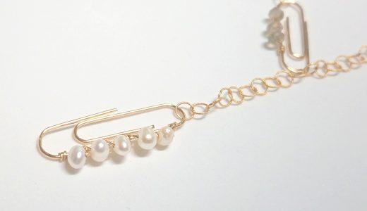 クリップネックレス✧パール&ラブラドライト✧star bright jewelry